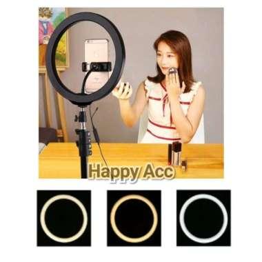harga Ring Light 33CM + Light Stand Tripod 2M Selfie Vlogger Livesteamer Multicolor Blibli.com