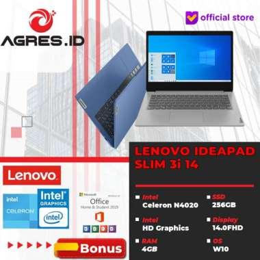 harga LENOVO IDEAPAD SLIM 56ID / 57ID 3i 14 - N4020 4GB 256ssd W10+OHS 14.0FHD IPS PLATINUM + SCREEN PROTECTOR Blibli.com