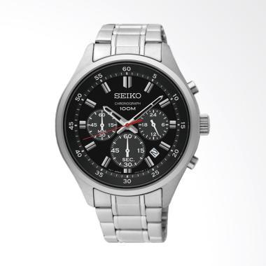 Seiko Chronograph Jam Tangan Pria - Black [SKS587P1]