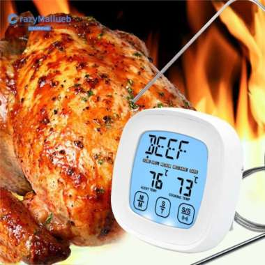 harga Termometer Digital Layar Sentuh Bahan Stainless Steel Tahan Air Untuk Blibli.com