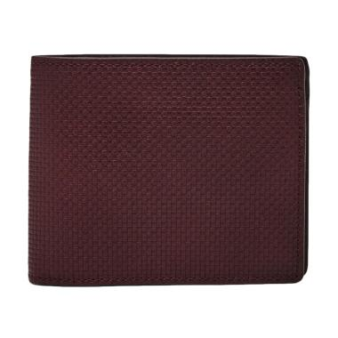 Fossil Hart Leather Bifold Dompet Pria - Dark Brown [ML4035-609]