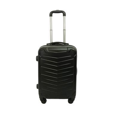 Polo Maple Koper A21 Black ABS Zig Zag Suitcase [20 Inch]