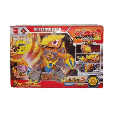 harga Toy Addict 9948A 04 Dragon Warrior Robot Bongkar Pasang 6 Model Kit - Merah Kuning Blibli.com