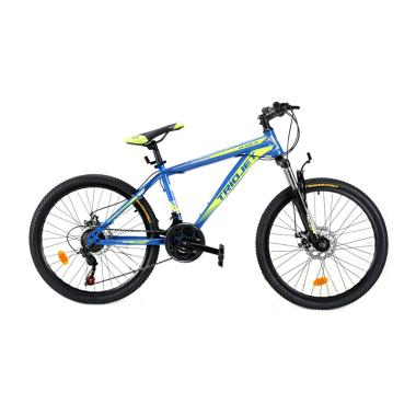 harga Element Triojet Iconic 1.0 Sepeda MTB - Blue Yellow [Frame Steel/21 Speed/24 Inch] Blibli.com