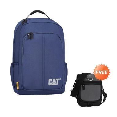 Cat Innovado Tas Ransel Pria - Navy Blue + Free Caterpillar Ronald Tas  Selempang Pria - Black Anthracite 03457d2417