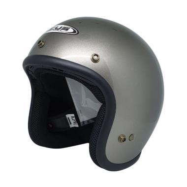 Zeus ZS-385C Helm Half Face - Dark Silver