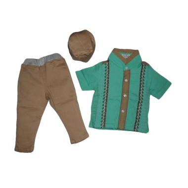 VERINA BABY Setelan Baju Koko Anak - Hijau