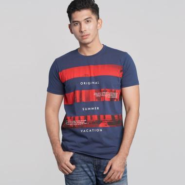 Osella 87 Baju Pria T-Shirt - Indigo
