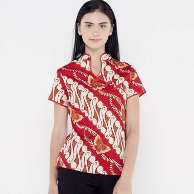 FBW Shanghai Imlek Parang Kupu Blouse Batik Wanita c23d2cb70b