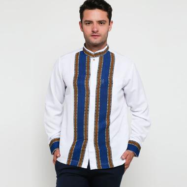 Batik Arjunaweda Raghav Baju Koko Pria - Biru [97006018]