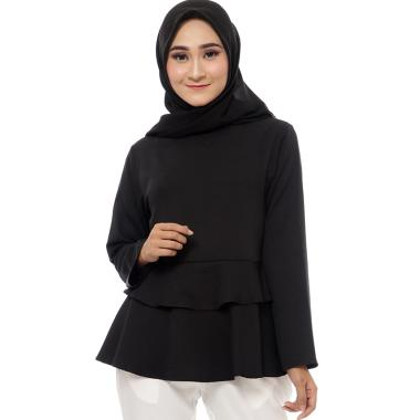 Zahra Signature Anika Blouse Muslim Wanita - Black