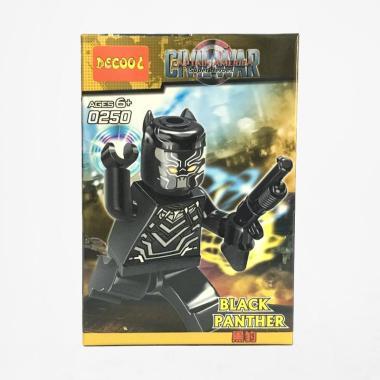 Decool 0250 Civil War Black Panther Minifigures