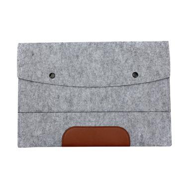 harga Cooltech Sarung Softcase Sleeve Wool Envelope Tas Laptop [14 inch] Light Grey Blibli.com
