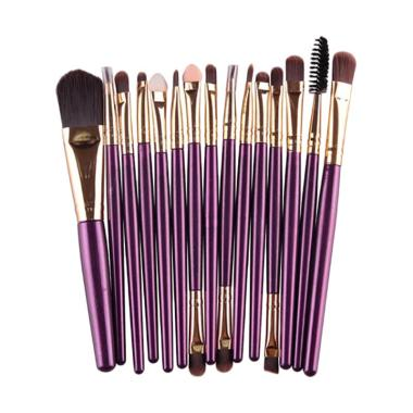 Bluelans Makeup Set Powder Foundation Eyeshadow Eyebrow Concealer Lip Cosmetic Brush [15 pcs]