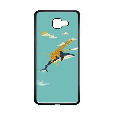 harga Acc Hp Black Friday Offer Giraffe Riding Shark E1379 Custome Casing for Samsung Galaxy A7 2016 Blibli.com