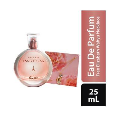 WHS - Molto Eau De Parfum Luxury Rose Parfum Wanita [25 mL] + Free Kalung Elizabeth Wahyu
