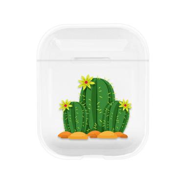 Bluelans 3 Cactus Clear Hard Protective Case Cover for AirPods