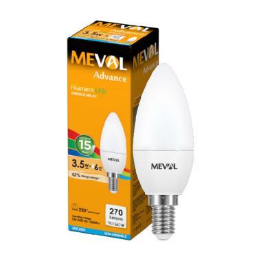 harga Meval LED Candle Putih Susu 3.5W - E14 Putih Blibli.com