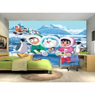 luxurious luxurious kds   007 motif anak doraemon 3d custom wallpaper full03 t245f3zo