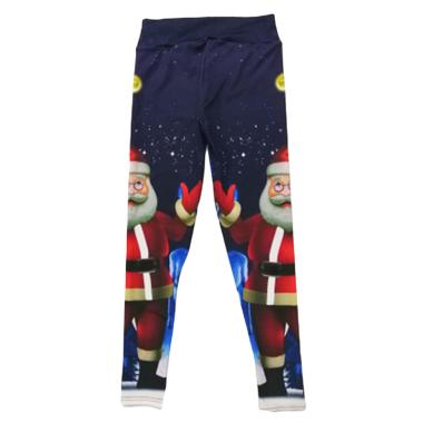 harga Bluelans 3 Christmas Women Snowman Santa Claus Stripe Print Leggings Stretch Yoga Pants Blibli.com
