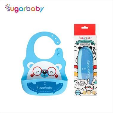 harga SugarBaby Premium Silicone BIB Celemek Bayi - Blue 02 [Size XL] Blibli.com