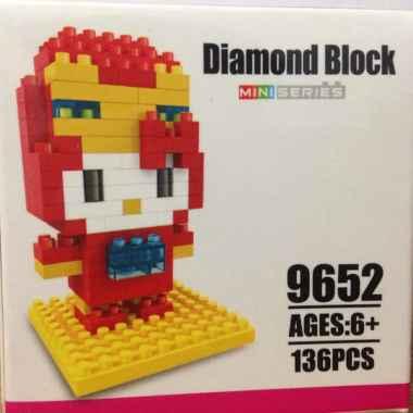 LOZ Diamond Blocks Avengers Nano Block 130 Piece Building Set Incredible Hulk