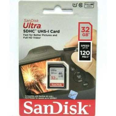harga Sandisk Ultra SD Card 32GB 90mb/s SDCARD SDHC CLASS 10 hitqm Blibli.com