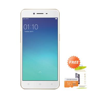 OPPO A37F Smartphone - Rose Gold [1 ... Free MMC 16 GB & Tempered