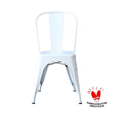 The Olive House Michelle Metal Chair - White