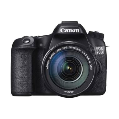 Canon EOS 70D Kit 18-135mm IS STM Wifi Kamera DSLR - Hitam