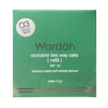 Refil Wardah Two Way Cake - SandyBeige