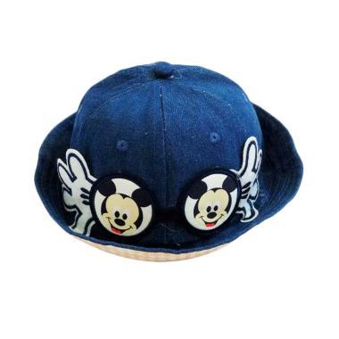 Yan Yu Yan Bucket Hat Mickey Topi Anak - Biru Dongker