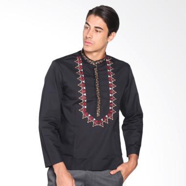 Fayyad Hamzi Baju Koko - Black/Maroon