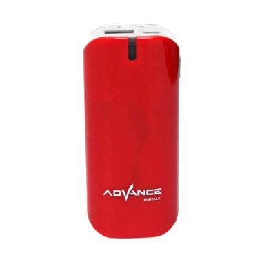 Advance S21-5200 Mobile Powerbank - Merah [5200 mAh]