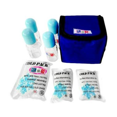 RBS Hot and Cooler Bag With Glass Bottle and Ice Gel