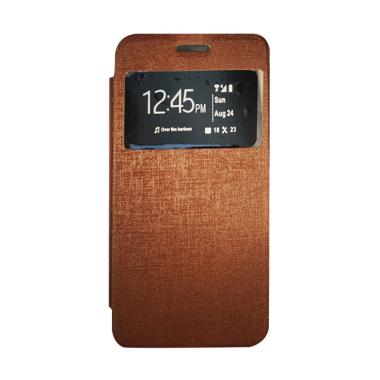 Gea Flip Cover Casing for Samsung Galaxy J5 J500 - Coklat