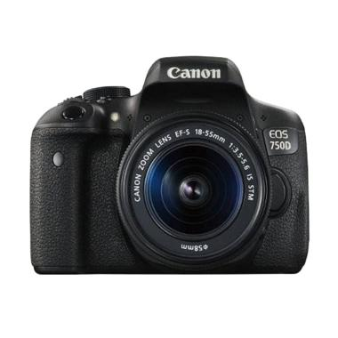 Canon EOS 750D Kit 18-55mm IS STM D ... andisk 16GB + Screenguard