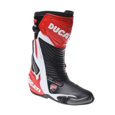 Ducati Corse 2 Sepatu Boots - Black Red