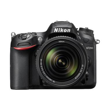Nikon D7200 Kit 18-140mm VR Kamera DSLR - Hitam