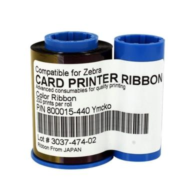 Zebra 800015-440 YMCKO Printer Ribbon - Color