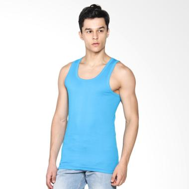 LGS Men Underwear Tank Top Atasan P ... 1 Pcs] LETS-003-222-BL-7C