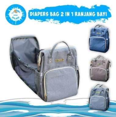harga Tas Bayi 2in1 | Diaper Bag Ranjang Bayi Multifungsi KIDDIE SPLASH (Gray Gold) Gray Gold Blibli.com