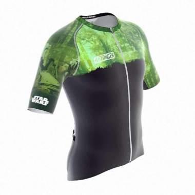 harga Jersey Sepeda - Bioracer Star Wars Planet Jersey - Green Forests of Endor S black/green Blibli.com
