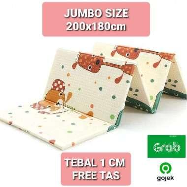 harga Playmat Jumbo 200x180cm Tikar Matras Lipat Alas Main Bayi Anak Tebal Empuk FREE TAS R48 Blibli.com