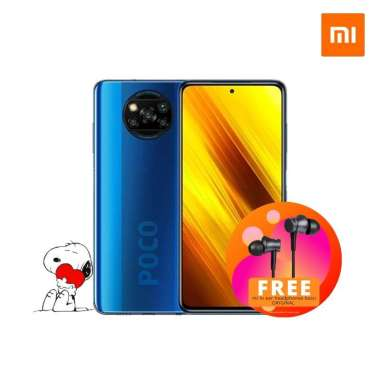 harga Poco X3 NFC - 6/64GB - Free Mi In-Ear headphone Cobalt Blue Blibli.com