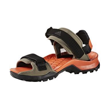 adidas Cyprex Ultra II Men's Sandal Outdoor Pria - Orange Black BB5448