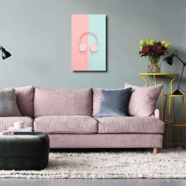 harga Hiasan Dinding Headphone Pink / Dekorasi Rumah / Hiasan Kamar Cafe 3 pcs pink Blibli.com