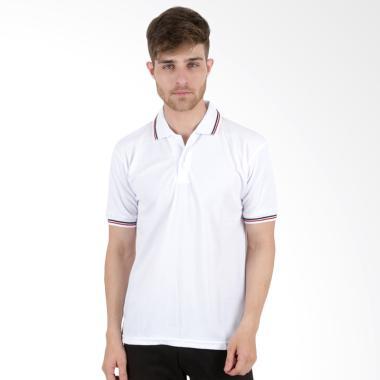 Elfs Shop Lacost Stripe Polo Shirt - Putih
