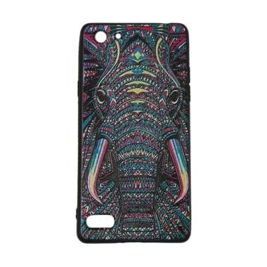 VR Animal Luxo Rimba Elephant Softcase Casing for Oppo A33 or Neo 7