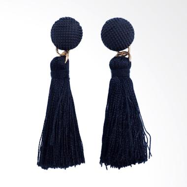 Me Time Anting Hitam Korea Tassel Tusuk (AAG0006)